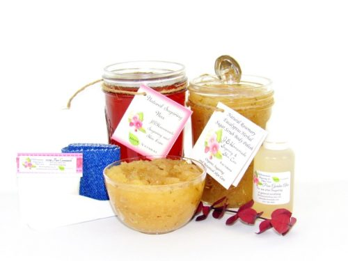 JBHomemade Natural Rosemary Eucalyptus Sugar Scrub Sugaring Wax Bundle