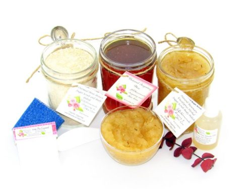 JBHomemade Natural Rosemary Eucalyptus Sugar Scrub Sugaring Wax Full Bundle
