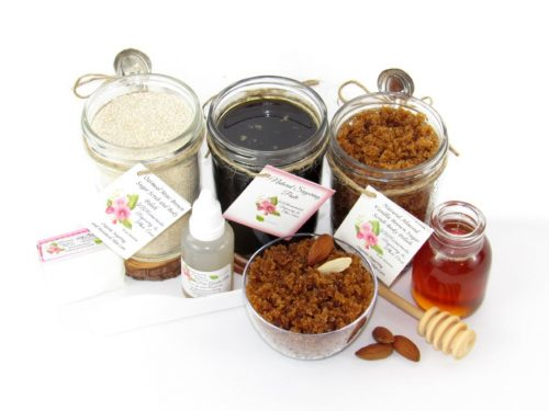 JBHomemade Natural Almond Vanilla Brown Sugar Scrub Sugaring Paste Full Bundle