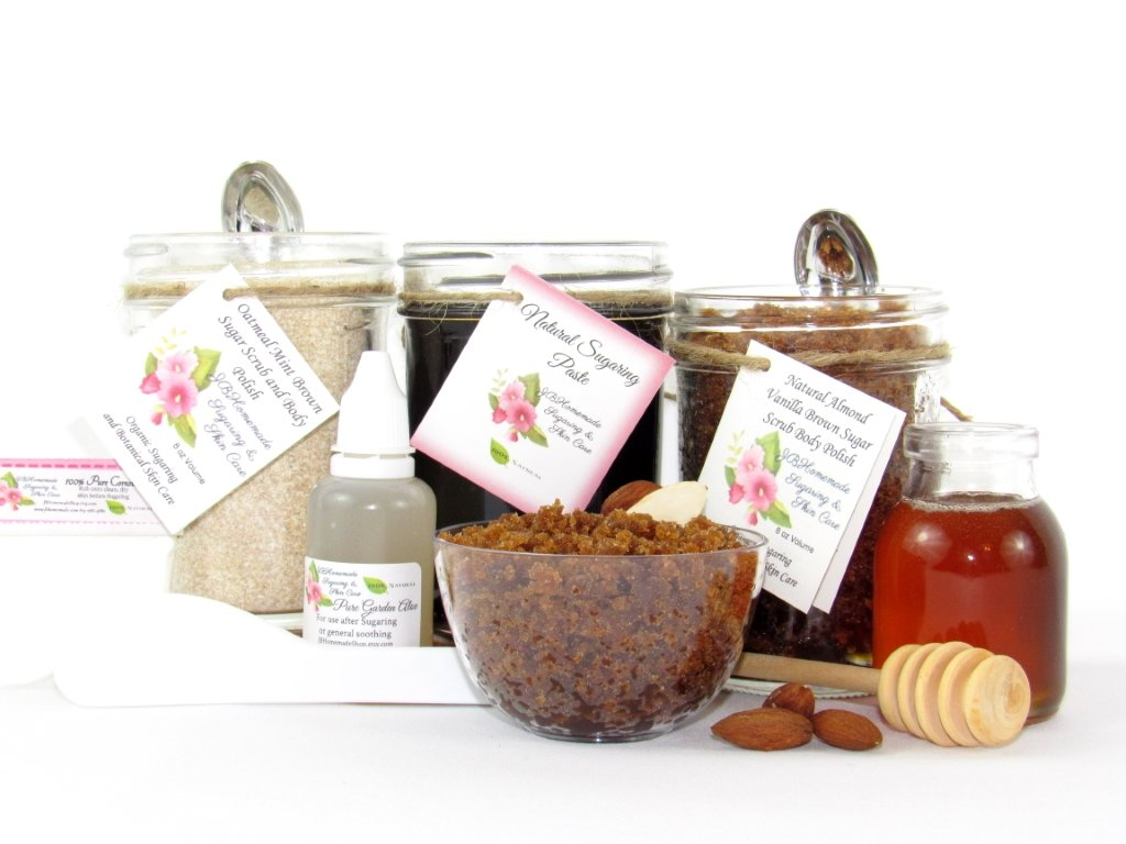 Sugaring Paste Hair Removal Full Bundle Oatmeal Scrub Almond