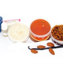 JBHomemade Natural Almond Vanilla Brown Sugar Scrub Sugaring Wax Starter Kit