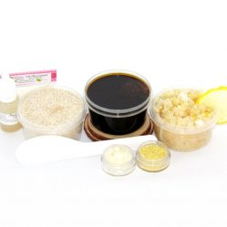 JBHomemade Natural Coconut Lemon Sugar Scrub Sugaring Paste Starter Kit