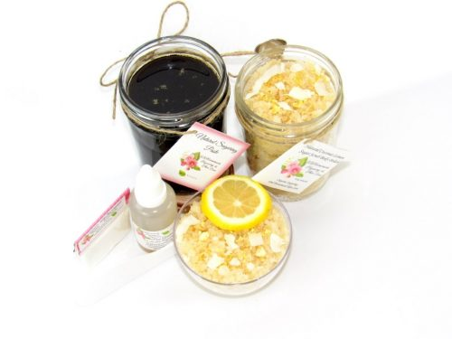 JBHomemade Natural Coconut Lemon Sugar Scrub Sugaring Paste Bundle