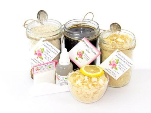 JBHomemade Natural Coconut Lemon Sugar Scrub Sugaring Paste Full Bundle
