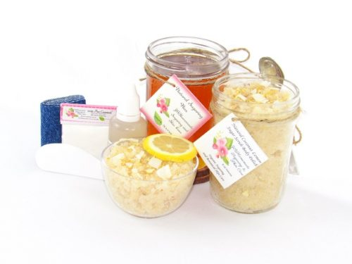 JBHomemade Natural Coconut Lemon Sugar Scrub Sugaring Wax Bundle