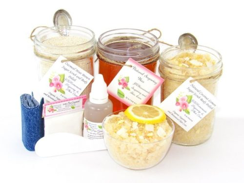 JBHomemade Natural Coconut Lemon Sugar Scrub Sugaring Wax Full Bundle