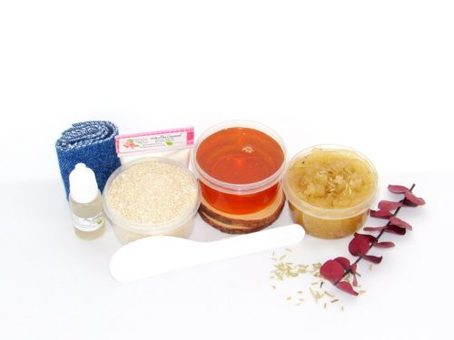 JBHomemade Natural Rosemary Eucalyptus Sugar Scrub Sugaring Wax Starter Kit