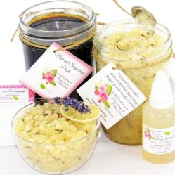 JBHomemade Natural Lavender Lemon Sugar Scrub Sugaring Paste Bundle