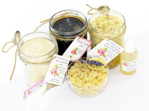 JBHomemade Natural Lavender Lemon Sugar Scrub Sugaring Paste Full Bundle