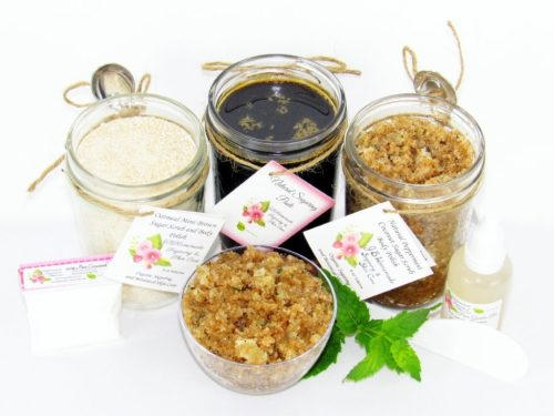 JBHomemade Natural Peppermint Coconut Sugar Scrub Sugaring Paste Full Bundle