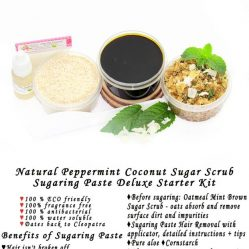 JBHomemade Natural Peppermint Coconut Sugar Scrub Sugaring Paste Starter Kit