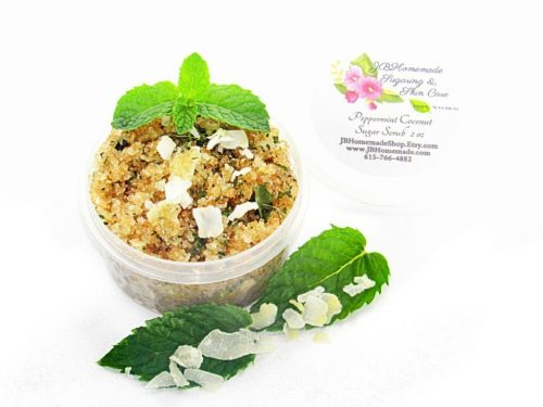 JBHomemade Peppermint Coconut Sugar Scrub 2 oz 2018