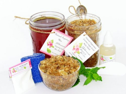 JBHomemade Natural Peppermint Coconut Sugar Scrub Sugaring Wax Bundle