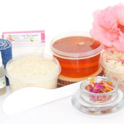 JBHomemade Natural Pink Rose Sugar Scrub Sugaring Wax Starter Kit