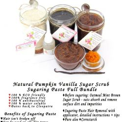 JBHomemade Natural Pumpkin Vanilla Brown Sugar Scrub Sugaring Paste Full Bundle