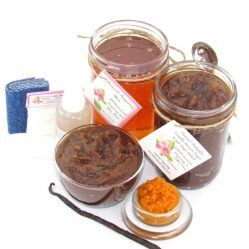 JBHomemade Natural Pumpkin Vanilla Brown Sugar Scrub Sugaring Wax Bundle