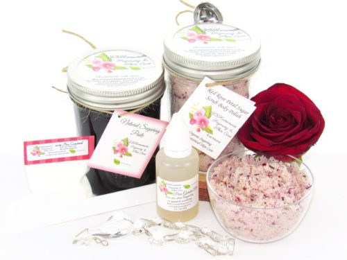 JBHomemade Natural Red Rose Sugar Scrub Sugaring Paste Bundle