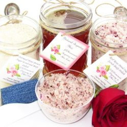 JBHomemade Natural Red Rose Sugar Scrub Sugaring Wax Full Bundle