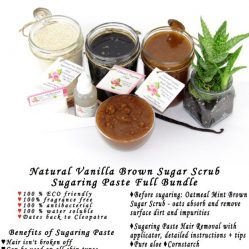 JBHomemade Natural Vanilla Brown Sugar Scrub Sugaring Paste Full Bundle