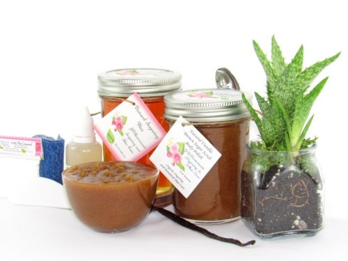 JBHomemade Natural Vanilla Brown Sugar Scrub Sugaring Wax Bundle