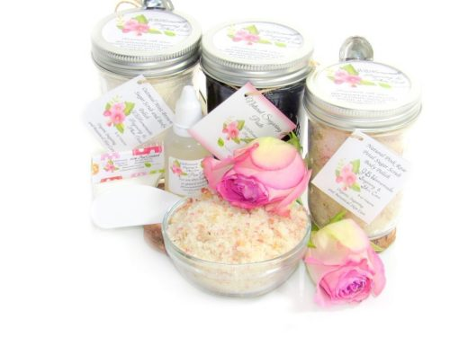 JBHomemade Natural Pink Rose Sugar Scrub Sugaring Paste Full Bundle